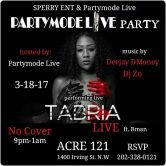 PARTYMODELIVE PRESENTS….TABRIA LIVE